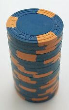 "Set of 20 ASM Casino Style ""A"" Mold Clay Chips Blue/Orange Inserts FREE SHIP"