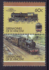 GRENADINES OF St VINCENT LOCO 100 CLASS V 1 LOCOMOTIVE UK STAMPS MNH