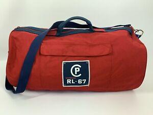 Vintage Polo Ralph Lauren RLYC Red Canvas Duffle Bag Stadium CP RL-67