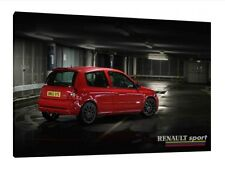 Renault Clio 182  - 30x20 Inch Canvas Framed Picture Wall Art Print