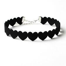 Heart Necklace Collar Cashmere Velvet Love Choker Necklace Creative Models gt