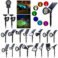 Solar 7 LED Spotlight Outdoor Garden Lamp Lawn Landscape Lights Waterproof LOT