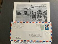 ROC CHINA TAIWAN COVER +BROCHURE ! MISSIONARY AVIATION PAPUA NEW GUINEA LETTER !
