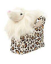 NWT Gymboree PARISIAN CHIC Leopard Purse Animal Plush Dog Carrier Toy Bag