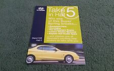 1998 HYUNDAI COUPE UK MOTOR SHOW A5 COLOUR LEAFLET PRIZE DRAW QUESTIONS BROCHURE