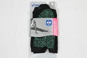 ASICS Women's Studio No-Slip Single Tab Toeless Sock, Performance Black, Large