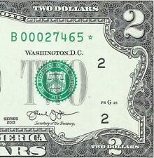 New Listing2013 $2 *Star* (~New York~) Crisp Uncirculated! Old Us Paper Money Currency!