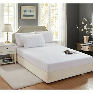"""Quilted Mattress Protector Pad Topper Cover 16"""" Deep Fitted Twin Full Queen King"""