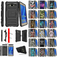 For Samsung Galaxy On5 | G550 | O5 Holster Belt Clip Kickstand Hybrid Case Cover