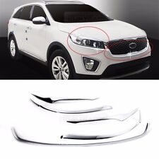 Chrome Headlight Garnish + Grill Under 7P Set for KIA 2015-2018 Sorento UM