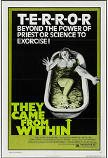 THEY CAME FROM WITHIN/SHIVERS orig 1975 one sheet movie poster DAVID CRONENBERG