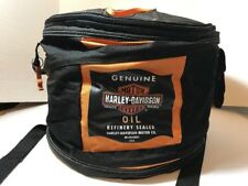 Genuine Harley Davidson Oil Can Style Cooler Collapsible Bag Insulated + Opener