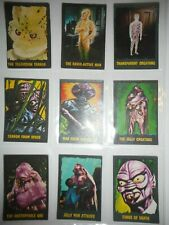 1964 OUTER LIMITS COMPLETE (50) CARD SET  BUBBLES PRINTED ENGLAND