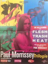 FLESH,TRASH, HEAT MOVIE POSTER #2,SIGNED BY JOE DALLESANDRO ;BONUS-SEE BELOW!!!!