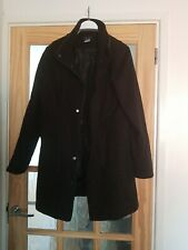 La Redoute Black Smart Coat size 16 button up cosy comfy