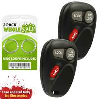 2 Replacement For 2001 2002 Chevrolet Silverado Key Fob Remote Shell Case
