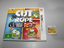 "Cut The Rope Triple Treat For Nintendo 3DS Tested And In ""VGWO"""