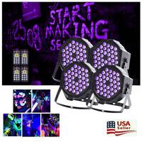 8PCS RGB LED PAR CAN Stage Lighting DMX DJ Disco Wedding Uplighting Light+Remote