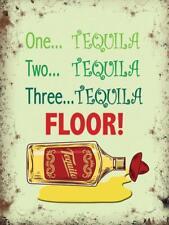 Tequila Pavimento! Divertente Pub scatti SPIRITI Piccolo Metallo Acciaio Muro Firmare