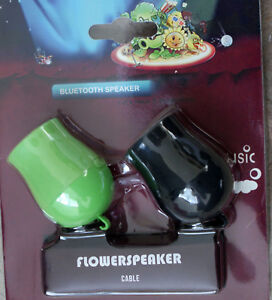 BLUETO**H MINI FLOWER SPEAKERS TWIN PACK WORK WITH ANDROID, IOS & PC DEVICES