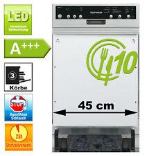 Geschirrspüler 45cm Einbau A+++ Spülmaschine 8 Programme Aquastop teilintegriert