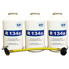 0*F Refrigerant Kit 3 cans of R-134A & Can Tap