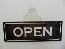 Open / Closed Sign Brown & White