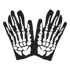 Halloween Black White Skeleton Gloves Ghost Clothes Fitting Ghost Bones Gloves