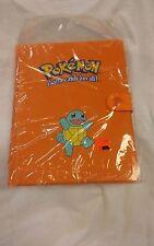 Pokemon Orange Binder album 4 Pocket 1999 Squirtle NIP Original RARE