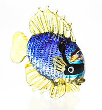 Miniature Hand Blown Glass Blowing Art Blue Tang Fish gift Animal Decor Souvenir