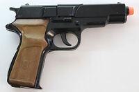 VINTAGE PANTHER VERY RARE 8 SHOTS CAP GUN TOY VILLA GIOCATTOLI 6,3'' METAL ITALY