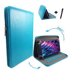 360° drehbare 7 zoll Tablet Tasche Hülle blackberry playbook - Zipper Türkis 7