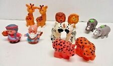 FISHER PRICE LITTLE PEOPLE NOAH'S ARK ANIMALS LOT OF 10 + NOAH AND WIFE