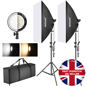 """Neewer Bi-colour Dimmable LED Lighting Kit with 20""""x27"""" Softboxes Lights Stands"""