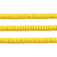 Wood Rondelle Beads Dark Yellow 8x4mm 16 Inch Strand