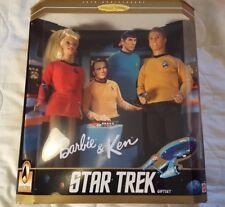 Nib 1996 Star Trek 30th Anniversary Barbie and Ken Dolls Gift Set Mattel
