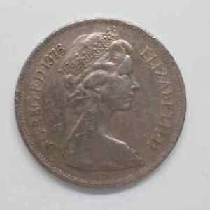UK QEII Coin 1976 New Pence 10 QEII  N5