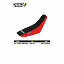 2004-2012 HONDA CRF 50 Red/Black FULL GRIPPER SEAT COVER BY Enjoy MFG