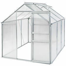 Invernadero de jardín con ventana policarbonato casero plantas cultivos 5,7m³