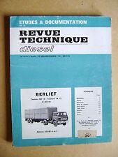 Revue Technique Automobile Berliet  Camions GR 12 Tracteurs TR 12 /C36