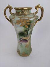 Antique Nippon Hand painted Vase Maple Leaf Mark