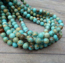 6 mm teñido Regalite granos filamento de 62 Round piedras preciosas perlas