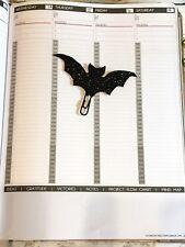 Planificador de murciélago Clip, Clip de papel, suministros planificador Planner, planificador idea, Bat Regalo