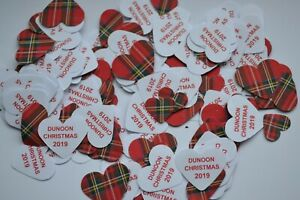 BURNS NIGHT or CHRISTMAS TARTAN TABLE CONFETTI 130 PIECES PER PACK