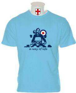 MENS SKY BLUE QUADROPHENIA JIMMY COOPER SCOOTER TSHIRT FREE UK POST SX LI GP