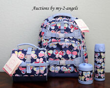Pottery Barn Kids TROPICAL BUTTERFLY LG Backpack Lunch Bag Water Bottle Thermos