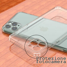 "cover custodia per iphone 11 (6.1"") 11pro max fotocamera coperto trasparente Tpu"