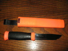 Mora hunter knife stainless steel orange neverlost edition outdoors survival
