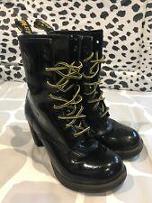 Dr Martens Kendra Black Patent Leather Heel Ankle Boot UK 5 / EU 38 / US 7