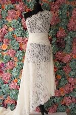 F102 Dark  Ivory bridal lace/Chantilly French corded lace sold by 150cm*300cm